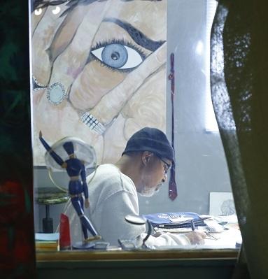 Mr Twymon in the studio